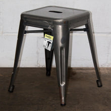 5PC Prato Table, 2 Forli Chairs & 2 Castel Stools Set - Steel