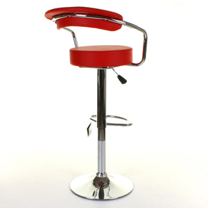 Monza Bar Stool - Red - Set of 2