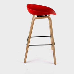 Benevento Bar Stool - Red - Set of 2
