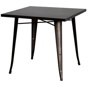 3PC Belvedere Table & Rho Stool Set - Gun Metal Grey