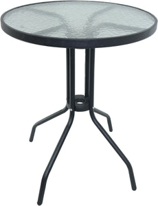60cm Round Glass Bistro Table