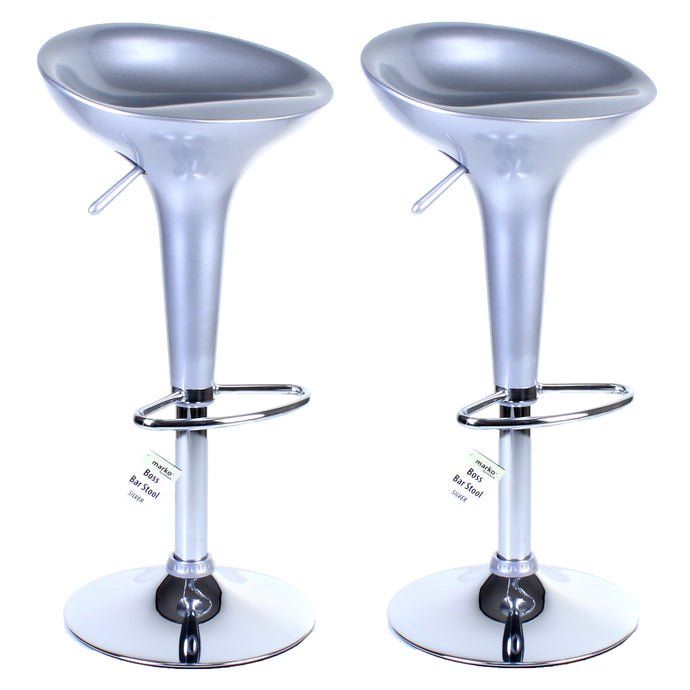 Boss Bar Stool - Silver - Set of 2