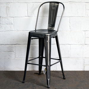 5PC Lodi Table & Pascale Bar Stool Set - Steel