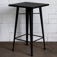 3PC Laus Table & Favara Bar Stool Set - Onyx Matt Black