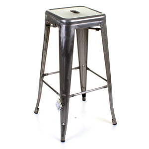 5PC Laus Table & Orvieto Bar Stool Set - Steel