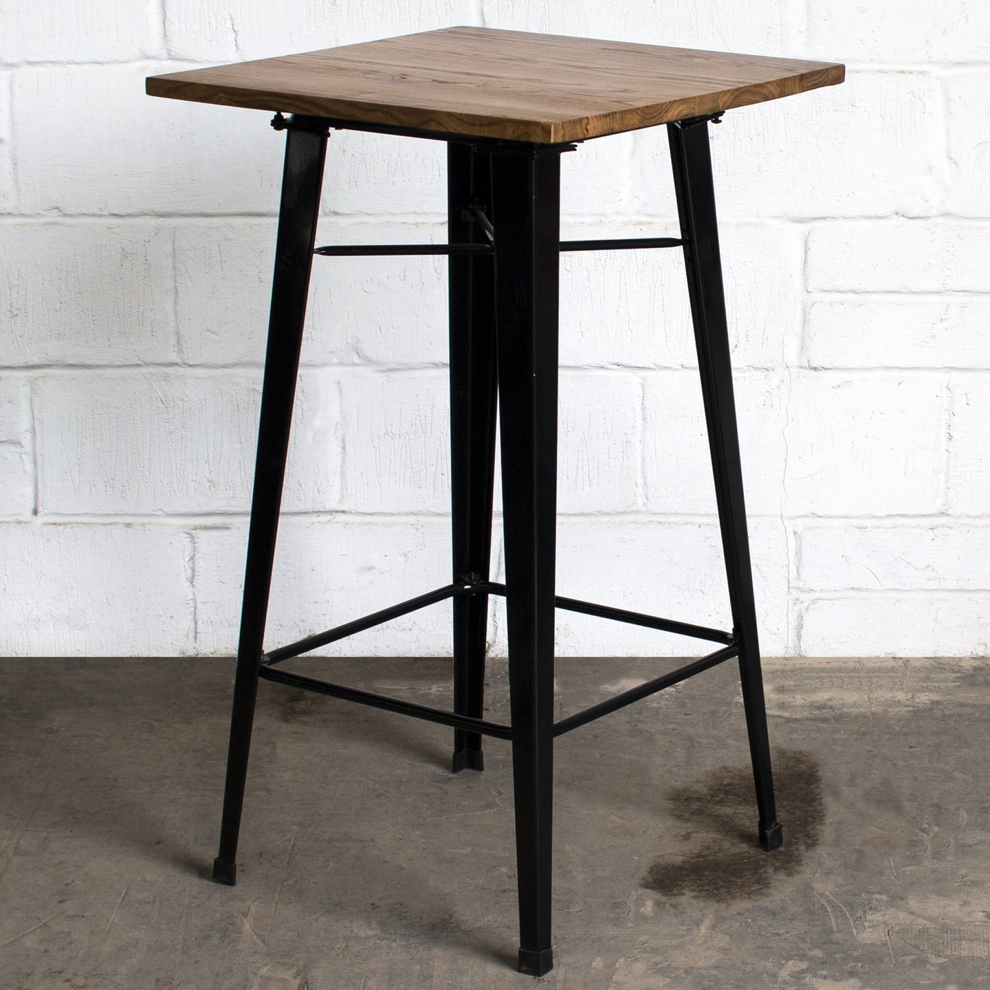 3PC Lodi Table & Pascale Bar Stool Set - Black