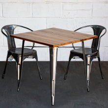 3PC Enna Table & Forli Chair Set - Steel