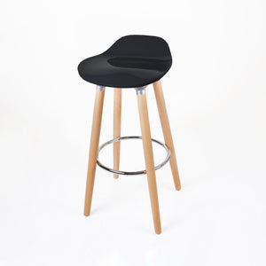 Pack of 2 ABS Bar Stool Round - Black