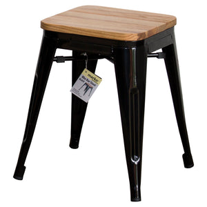 3PC Enna Table & Rho Stool Set - Black