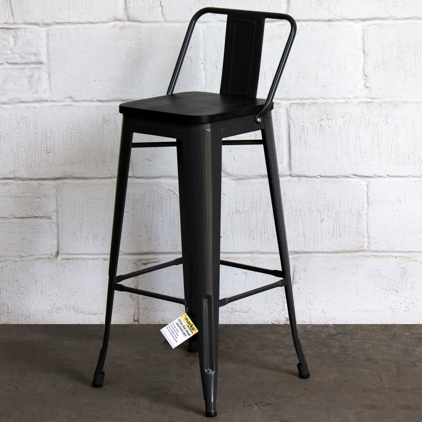 Milan Bar Stool - Graphite Grey