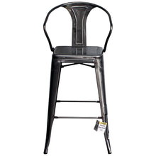 3PC Laus Table & Favara Bar Stool Set - Steel