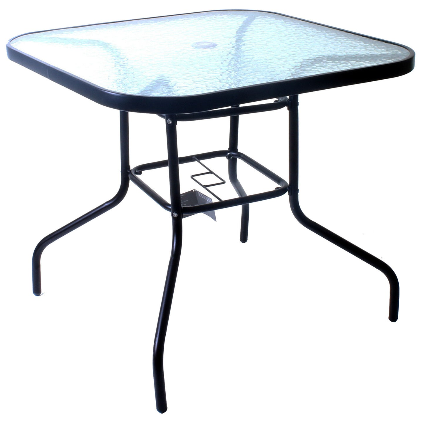 80cm Square Glass Table
