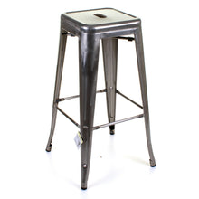 3PC Laus Table & Orvieto Bar Stool Set - Steel