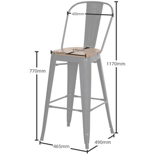 Soranzo Bar Stool - Graphite Grey