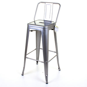 Naples Bar Stool - Silver