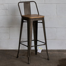 3PC Laus Table & Tuscany Bar Stool Set - Gun Metal Grey