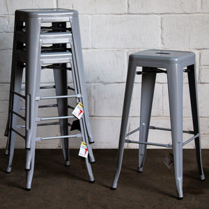 Orvieto Bar Stool - Pale Grey