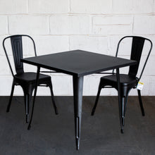3PC Belvedere Table & Siena Chair Set - Onyx Matt Black