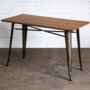 Prato Table - Gun Metal Grey