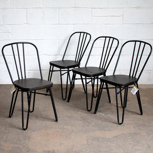 Merola Chairs - Matt Black