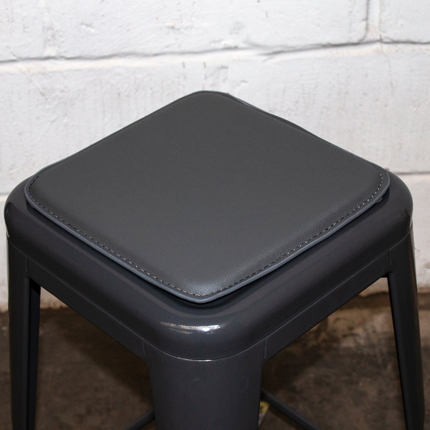 Bar Stool Seat Pad - Grey