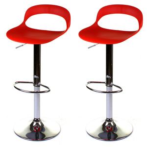 Foggia Bar Stool - Red - Set of 2