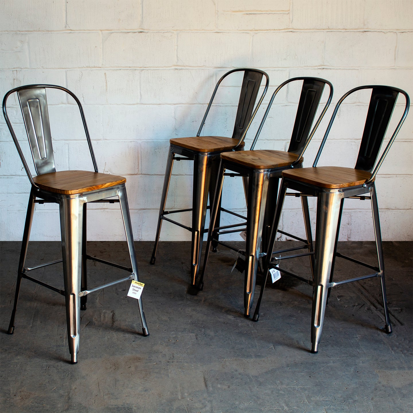 Soranzo Bar Stool - Steel