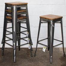 5PC Lodi Table & Firenze Bar Stool Set - Steel