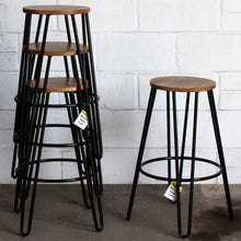 5PC Lodi Table & Marsala Bar Stool Set - Black