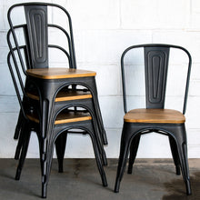 5PC Enna Table & Palermo Chair Set - Onyx Matt Black