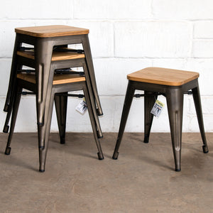 Rho Bar Stool - Gun Metal