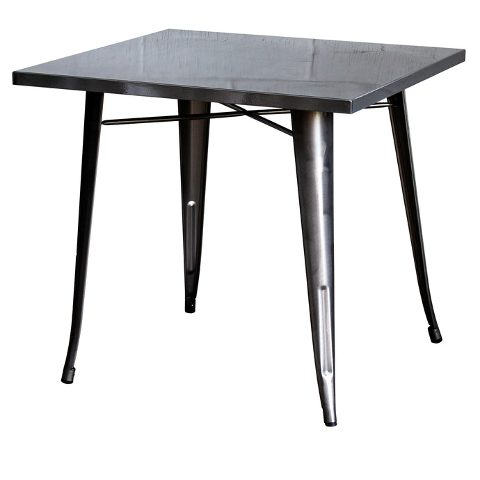 3PC Belvedere Table & Rho Stool Set - Steel