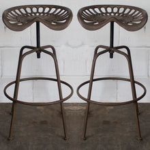 Arezzo Tractor Bar Stools - Rustic Brown