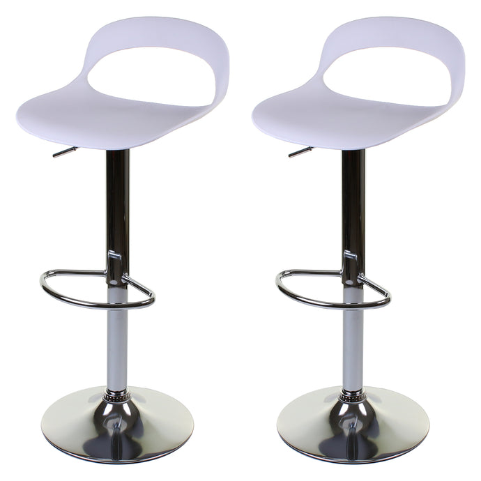 Foggia Bar Stool - White - Set of 2