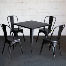 5PC Belvedere Table & Siena Chair Set - Onyx Matt Black