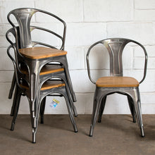 5PC Enna Table & Florence Chair Set - Steel