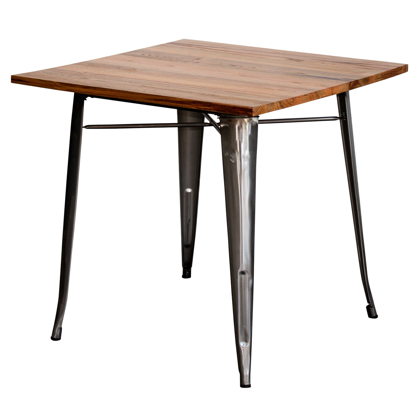 3PC Enna Table & Rho Stool Set - Steel