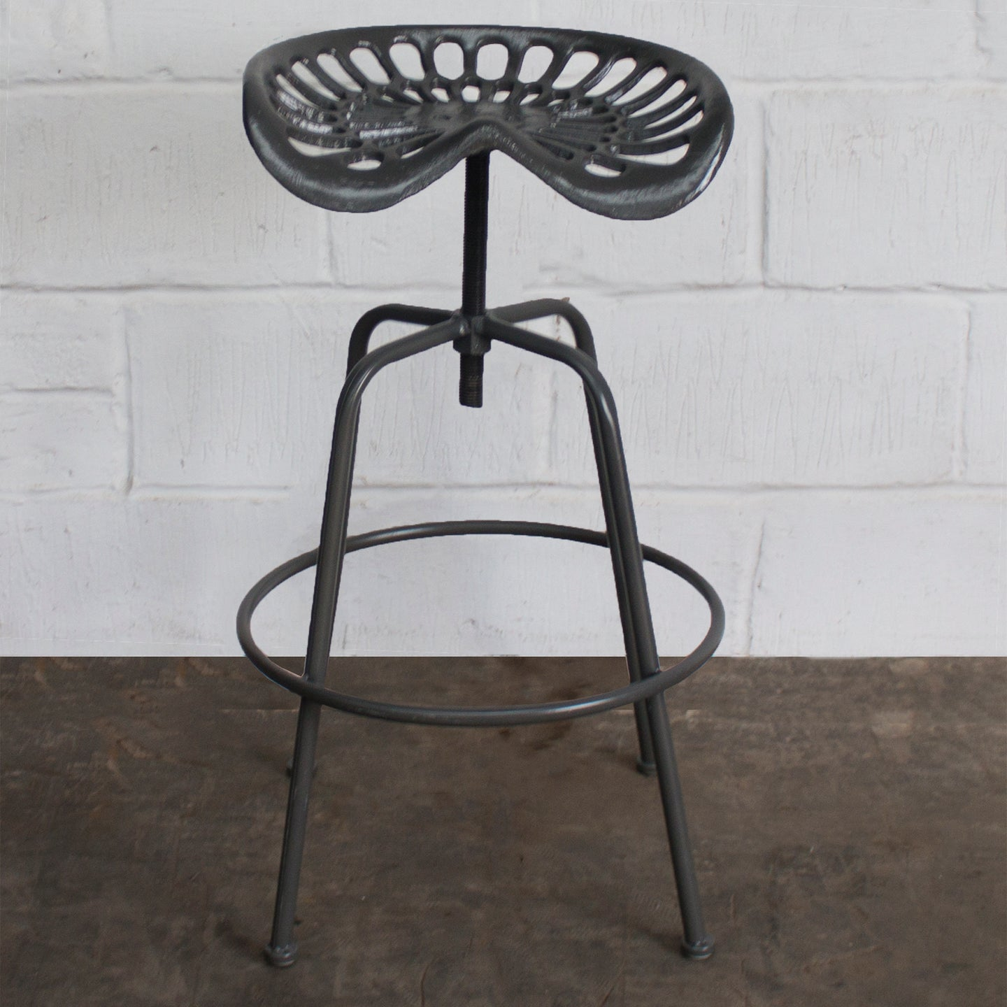 Arezzo Tractor Bar Stools - Dark Grey