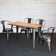 5PC Prato Table, 2 Forli & 2 Siena Chairs Set - Steel