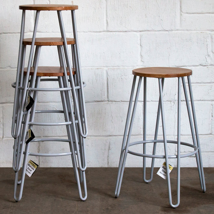 Marsala Bar Stool - Pale Grey