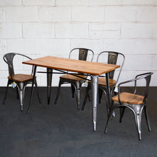 5PC Prato Table, 2 Florence & 2 Palermo Chairs Set - Steel