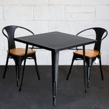 3PC Belvedere Table & Florence Chair Set - Onyx Matt Black