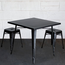 3PC Belvedere Table & Castel Stool Set - Onyx Matt Black