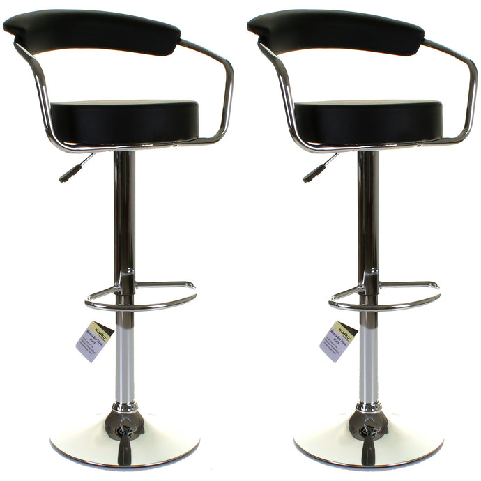 Monza Bar Stool - Black - Set of 2
