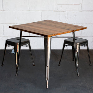 3PC Enna Table & Castel Stool Set - Steel