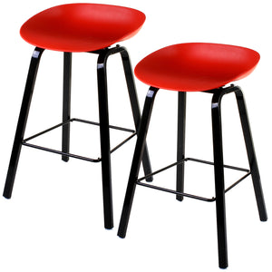 Cremona Bar Stool - Red - Set of 2
