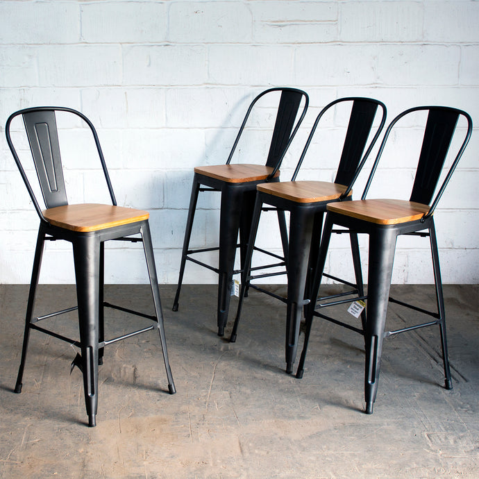 Soranzo Bar Stool - Onyx Matt Black