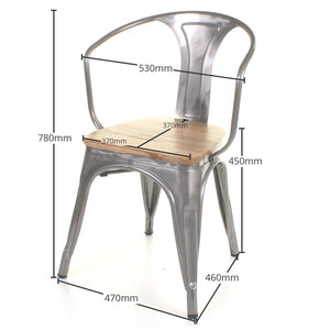 5PC Enna Table Florence & Palermo Chairs Set - Steel