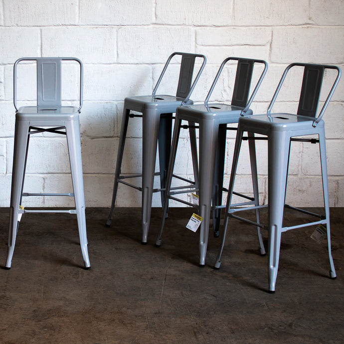 Naples Bar Stool - Pale Grey