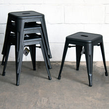 7PC Taranto Table, 3 Siena Chairs & 3 Castel Stools Set - Onyx Matt Black